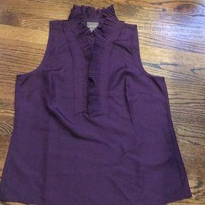 Kenar sleeveless ruffle NWOT blouse - Size L-Silk